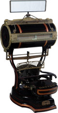 Clocks & Mechanical:Other, An Enameled Computing Scale Company Barrel Top Computing Scale, Dayton, Ohio, circa 1903. Marks: THE COMPUTING SCALE CO. D...