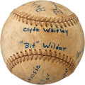Baseball Collectibles:Balls, 1935 Martinsville Manufacturers Game Used & Inscribed Baseball from The Enos Slaughter Collection....