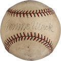 Autographs:Baseballs, Circa 1934 Connie Mack & Jimmie Foxx Signed Baseball....