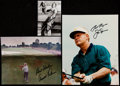 Autographs:Photos, Arnold Palmer & Jack Nicklaus Signed Photograph Lot of 3....