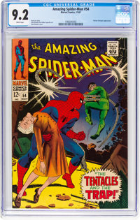 The Amazing Spider-Man #54 (Marvel, 1967) CGC NM- 9.2 White pages