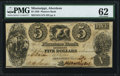 Obsoletes By State:Mississippi, Aberdeen, MS- Planters Bank of Aberdeen $5 Sep. 4, 1838 PMG Uncirculated 62.. ...