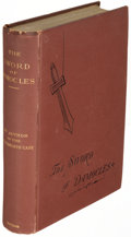 Books:Mystery & Detective Fiction, Anna Katharine Green. The Sword of Damocles. New York: 1881. First editions, two copies in variant bindings, one sig... (Total: 2 Items)