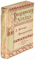Books:Mystery & Detective Fiction, Anna Katharine Green. Group of Three Knickerbocker Novels. NewYork: [1880-1886]. First editions.... (Total: 3 Items)