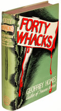 Books:Mystery & Detective Fiction, Geoffrey Homes. Forty Whacks. New York: 1941. First edition, together with an inscribed copy.... (Total: 2 Items)