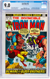 Iron Man #55 (Marvel, 1973) CGC VF/NM 9.0 White pages
