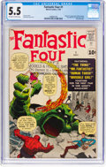 Silver Age (1956-1969):Superhero, Fantastic Four #1 (Marvel, 1961) CGC FN- 5.5 Off-white to white pages....