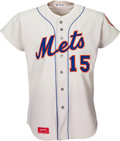 Baseball Collectibles:Uniforms, 1975 Jerry Grote Game Worn New York Mets Jersey. ...