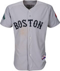 Baseball Collectibles:Uniforms, 2012 Dustin Pedroia Game Worn Boston Red Sox Jersey from Opening Day - MLB Authentic. ...