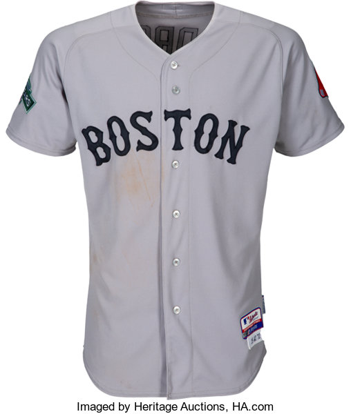 online store 544f7 343de 2012 Dustin Pedroia Game Worn Boston Red Sox Jersey from ...