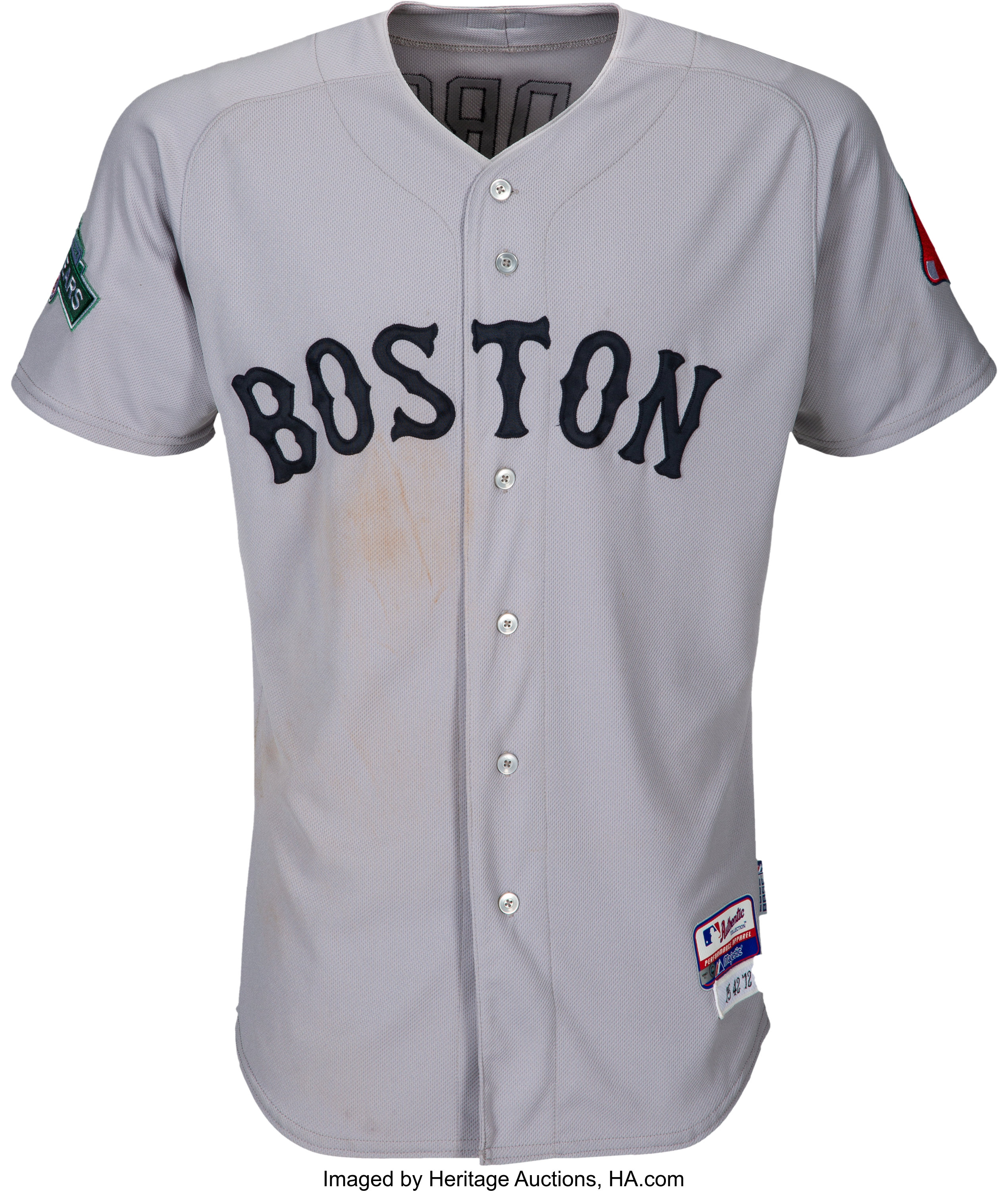online store 4a6bb 2eed9 2012 Dustin Pedroia Game Worn Boston Red Sox Jersey from ...