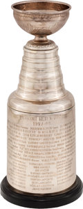 Hockey Collectibles:Others, 1997-98 Detroit Red Wings Player Model Stanley Cup Trophy Presented to Trainer John Wharton....