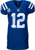 Football Collectibles:Uniforms, 2015 Andrew Luck Game Worn & Signed Indianapolis Colts Jersey - Photo Matched to 9/21 vs. Jets (Panini). ...