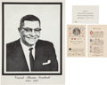 Football Collectibles:Others, 1970 Vince Lombardi Original Funeral Card & Invitation from St. Patrick's Cathedral Service with Insert from The Domenic Genti...