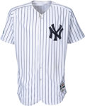 Baseball Collectibles:Uniforms, 2018 Luis Severino Game Worn Unwashed New York Yankees Jersey Used 10/3 vs. Oakland Wild Card Win MLB Authentic, Yankees-Stein...