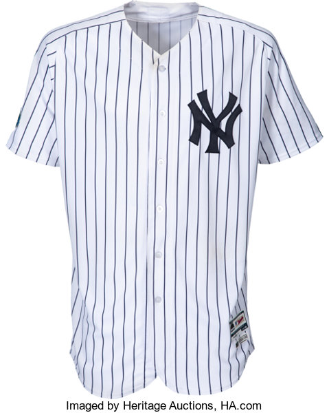buy popular 65ae0 2f3d9 2018 Luis Severino Game Worn Unwashed New York Yankees ...