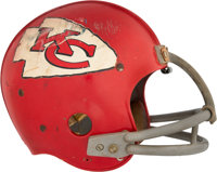 1970 Mike Garrett Game Worn Kansas City Chiefs Helmet - Style Matched to August 1970 Sports Illustrated Cover!