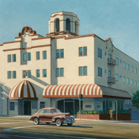 Franklin Dalton (American, 20th Century) Hotel Laguna Oil on canvas 20 x 20 inches (50.8 x 50.8