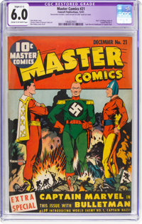 Master Comics #21 (Fawcett Publications, 1941) CGC Apparent FN 6.0 Slight (C-1) Cream to off-white pages