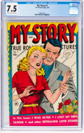 Golden Age (1938-1955):Romance, My Story #7 (Fox Features Syndicate, 1949) CGC VF- 7.5 Cream tooff-white pages....