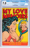 Golden Age (1938-1955):Romance, My Love Memoirs #9 (Fox Features Syndicate, 1949) CGC FN/VF 7.0Cream to off-white pages....