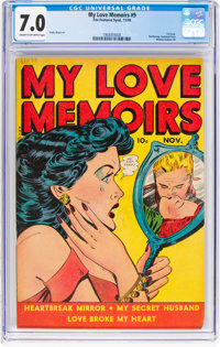 My Love Memoirs #9 (Fox Features Syndicate, 1949) CGC FN/VF 7.0 Cream to off-white pages