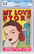 Golden Age (1938-1955):Romance, My Love Story #1 (Fox, 1949) CGC VG- 3.5 Off-white to whitepages....