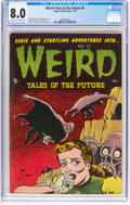 Golden Age (1938-1955):Horror, Weird Tales of the Future #4 (Aragon, 1952) CGC VF 8.0 Cream to off-white pages....