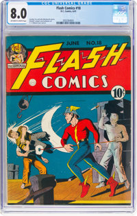 Flash Comics #18 (DC, 1941) CGC VF 8.0 Off-white to white pages