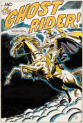 Original Comic Art:Splash Pages, Dick Ayers Western Gunfighters #4 Splash Page 1 Ghost RiderOriginal Art (Marvel, 1971)....