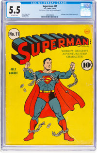 Superman #11 (DC, 1941) CGC FN- 5.5 Off-white pages