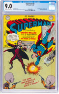 Golden Age (1938-1955):Superhero, Superman #62 (DC, 1950) CGC VF/NM 9.0 Off-white to white pages....