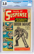 Silver Age (1956-1969):Superhero, Tales of Suspense #39 (Marvel, 1963) CGC GD/VG 3.0 Cream tooff-white pages....
