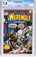 Bronze Age (1970-1979):Horror, Werewolf by Night #32 (Marvel, 1975) CGC FN/VF 7.0 White pages....