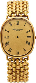 Timepieces:Other , Patek Philippe, Ref. 3848/1 Gold Case, Band & Dial, Circa1970's. ...