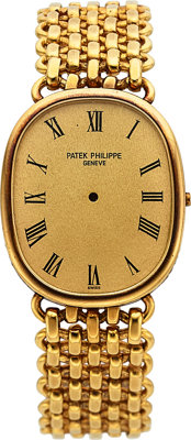 Patek Philippe, Ref. 3848/1 Gold Case, Band & Dial, Circa 1970's