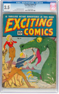 Golden Age (1938-1955):Superhero, Exciting Comics #4 (Nedor, 1940) CGC GD+ 2.5 Off-white to white pages....