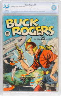 Buck Rogers #1 (Eastern Color, 1940) CBCS Restored (Slight/Moderate) VG- 3.5 Off-white pages