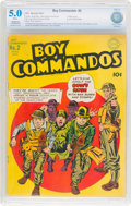 Golden Age (1938-1955):War, Boy Commandos #2 (DC, 1943) CBCS Restored VG/FN 5.0 (Slight/Moderate) White pages....