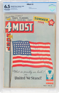 4Most V1#3 (Novelty Press, 1942) CBCS FN+ 6.5 Cream to off-white pages