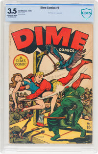 Dime Comics #1 (Newsbook, 1945) CBCS VG- 3.5 Cream to off-white pages