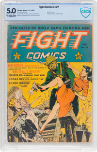 Fight Comics #22 (Fiction House, 1942) CBCS VG/FN 5.0 Off-white to white pages