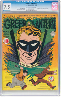 Green Lantern #2 (DC, 1942) CGC VF- 7.5 Off-white to white pages