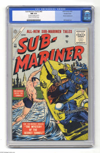 Sub-Mariner Comics #40 Double Cover (Atlas, 1955) CGC NM 9.4 Cream to off-white pages. The Sub-Mariner's creator Bill Ev...
