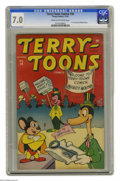 Golden Age (1938-1955):Funny Animal, Terry-Toons Comics #38 (Timely, 1945) CGC FN/VF 7.0 Cream tooff-white pages. Betcha didn't know that the first comic book a...