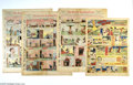 Memorabilia:Comic-Related, Rudolph Dirks - The Captain and the Kids Sunday Comic Strips (circa 1898 - 1928). Rudolph Dirk's personal newspaper tear she...