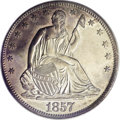 Seated Half Dollars, 1857-S 50C MS62 PCGS....