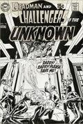 Original Comic Art:Covers, Neal Adams - Challengers of the Unknown #74 Cover Original Art (DC,1970). A demented man-beast steals the soul of a bed-rid...