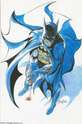 "Original Comic Art:Sketches, Neal Adams - Batman Illustration Original Art (undated).. As the old song goes, ""Nobody does it better..."" Batman, that is. ..."