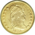 Early Quarter Eagles, 1804 $2 1/2 14 Star Reverse XF40 PCGS....